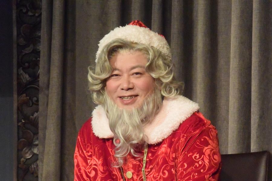 「クリスマスキャロル」座長の堀江貴文氏が記者会見に出席【写真:ENCOUNT編集部】