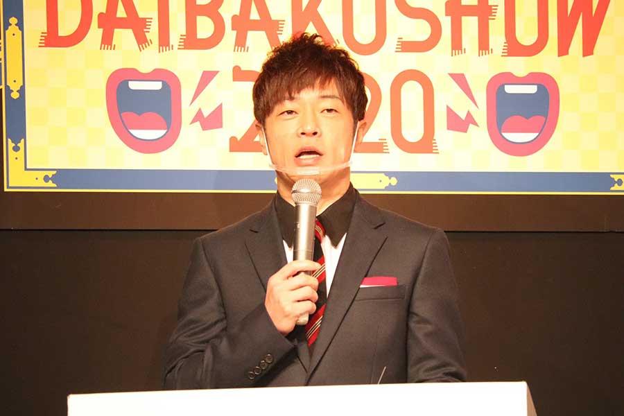 「DAIBAKUSHOW2020」開催発表会見に登壇した陣内智則【写真:ENCOUNT編集部】