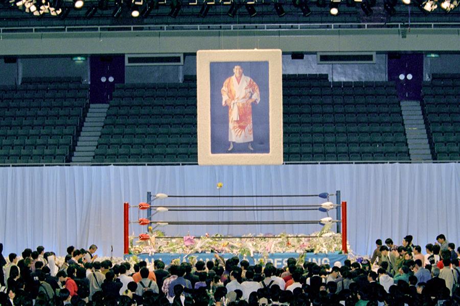 日本武道館での「ジャイアント馬場お別れの会 ありがとう」(1999年4月17日)【写真:平工 幸雄】