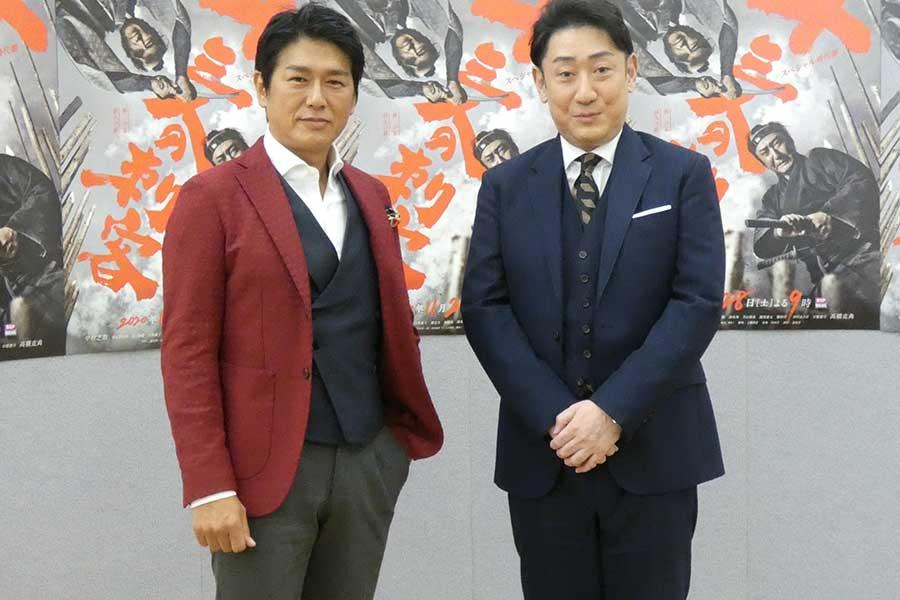 同じ中学の先輩後輩・中村芝翫と高橋克典が初共演 時代劇「十三人の刺客」28日放送