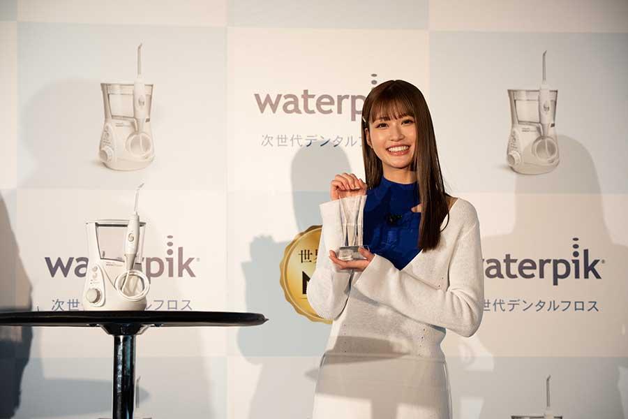 「Waterpik」の新製品発表会に参加した生見愛瑠