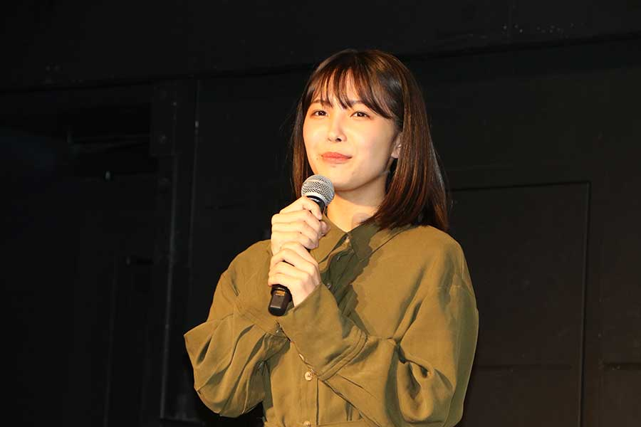 寺本莉緒が舞台あいさつに登壇【写真:ENCOUNT編集部】