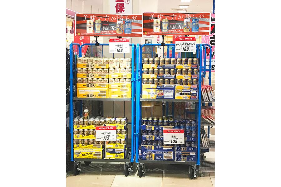"""""""共演NG""""のビールが一緒の棚に…埼玉のスーパーで異例の販売手法が話題"""