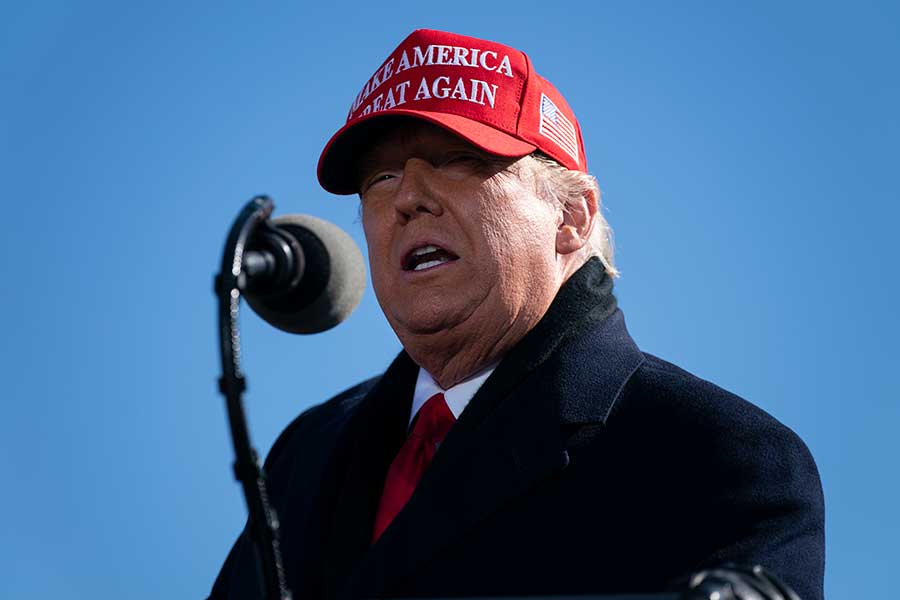 ドナルド・トランプ大統領【写真:AP】
