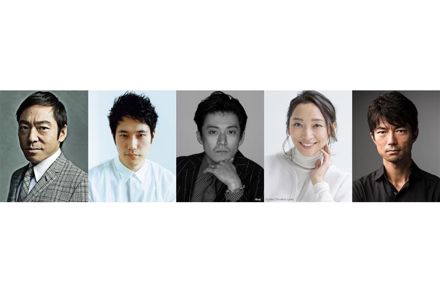 TBS日曜劇場「日本沈没―希望のひと―」に出演する(左から)香川照之、松山ケンイチ、小栗旬、杏、仲村トオル