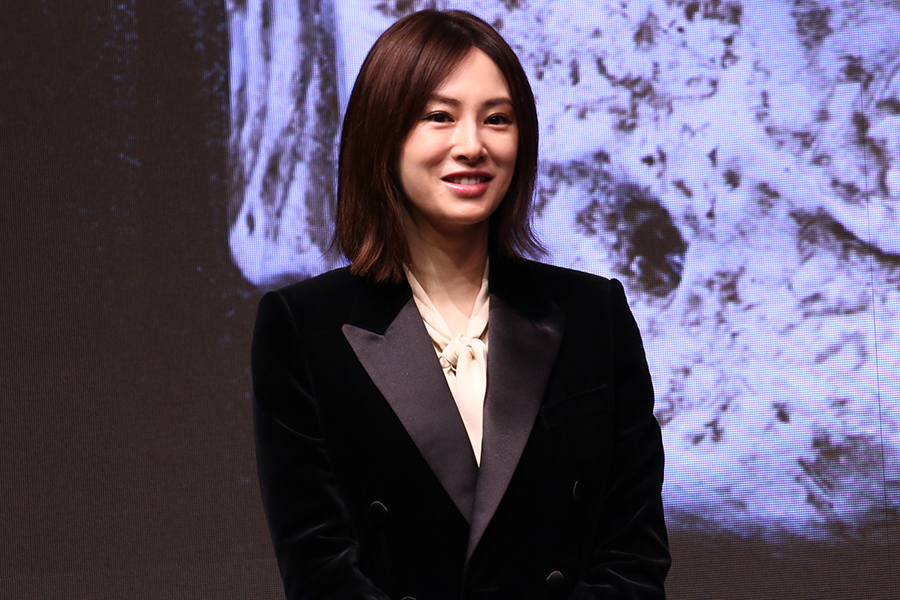 映画「ドクター・デスの遺産-BLACK FILE-」完成報告イベントに出席した北川景子【写真:ENCOUNT編集部】