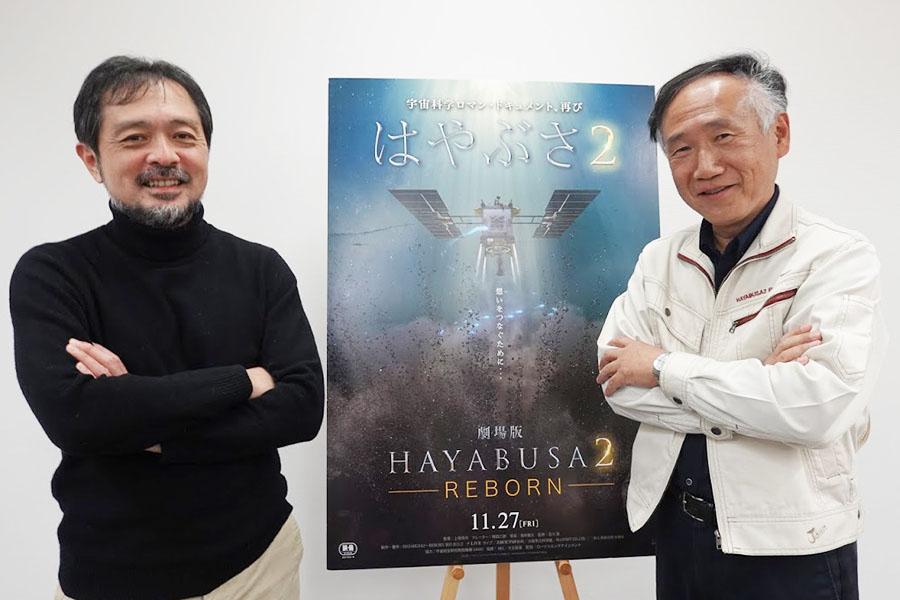 取材に応じた上坂浩光監督(左)と小笠原雅弘さん【ENCOUNT編集部】