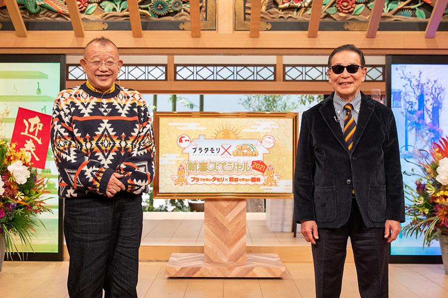 タモリ(右)と笑福亭鶴瓶【写真:(C)NHK】