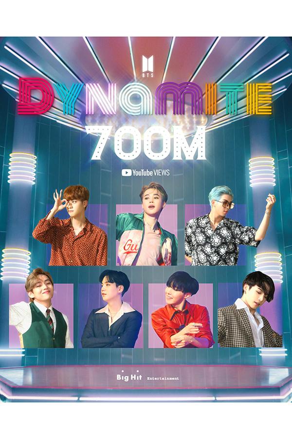 BTSの「Dynamite」がYouTube再生回数7億回を達成【写真:Photo by Big Hit Entertainment】