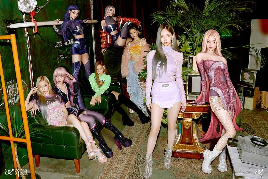 aespa、「Black Mamba」のMV再生回数1億突破 歴代K-POPデビュー曲のMVで最短記録