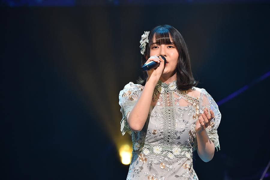 「STU48」谷口茉妃菜は初の決勝大会で独特な世界観を披露した【写真:(C)TBS】