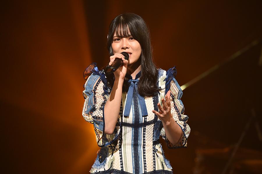 「STU48」矢野帆夏は名曲「My Revolution」で強烈なインパクトを残した【写真:(C)TBS】