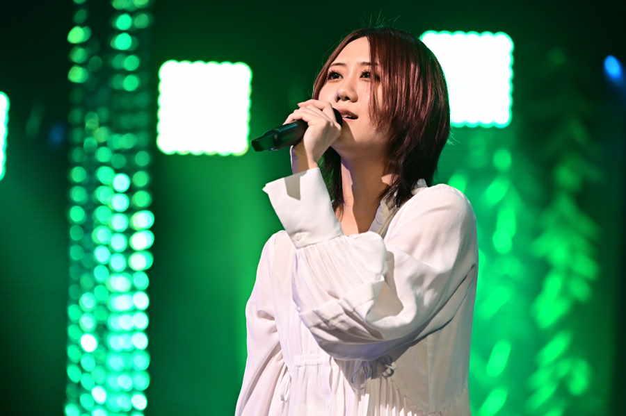 大会初出場となった「SKE48」の古畑奈和は唯一無二の世界観で魅了した【写真:(C)TBS】