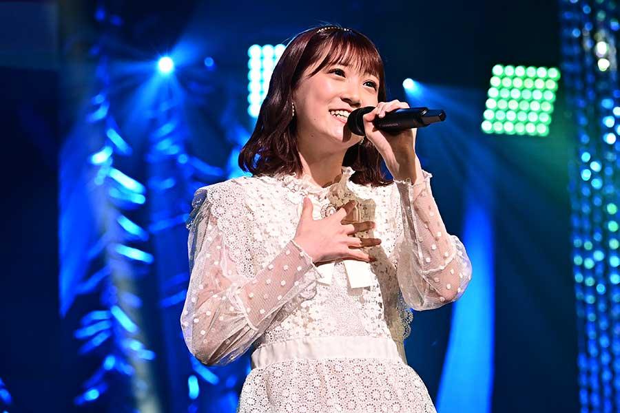 「HKT48」坂本愛玲菜は課題の声量を克服して、成長の跡を見せた【写真:(C)TBS】