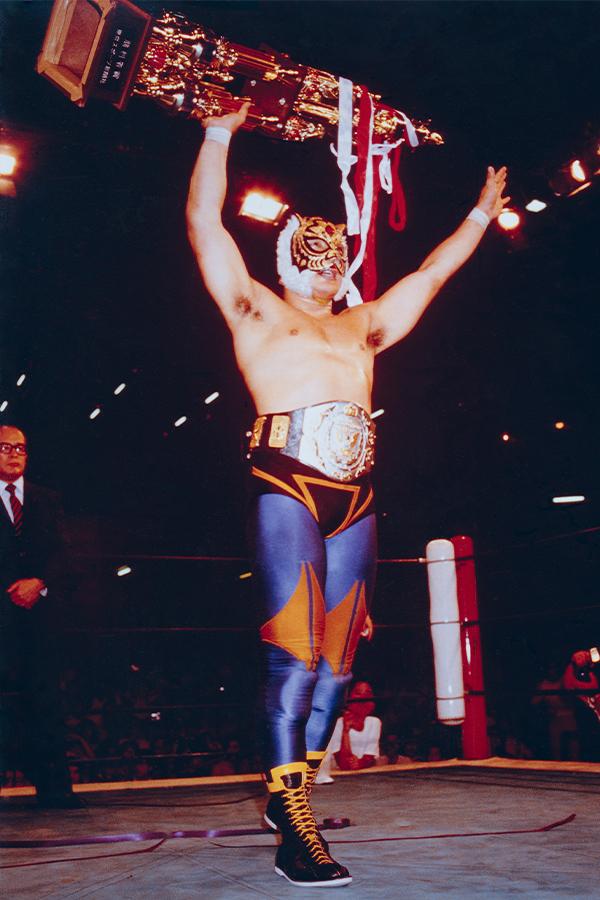 タイガーマスクがWWFジュニア王座を防衛(82年8月5日蔵前国技館)【写真:平工 幸雄】