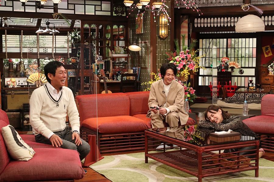 北川景子&中村倫也が「新春大売り出し!さんまのまんま」に出演【写真:(C)カンテレ】