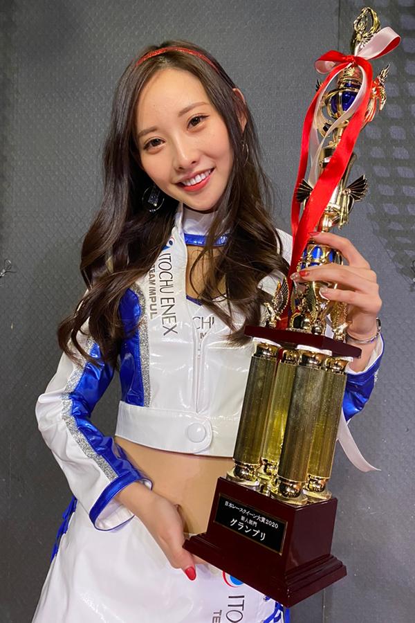 レースクイーン大賞で三冠獲得したあのん