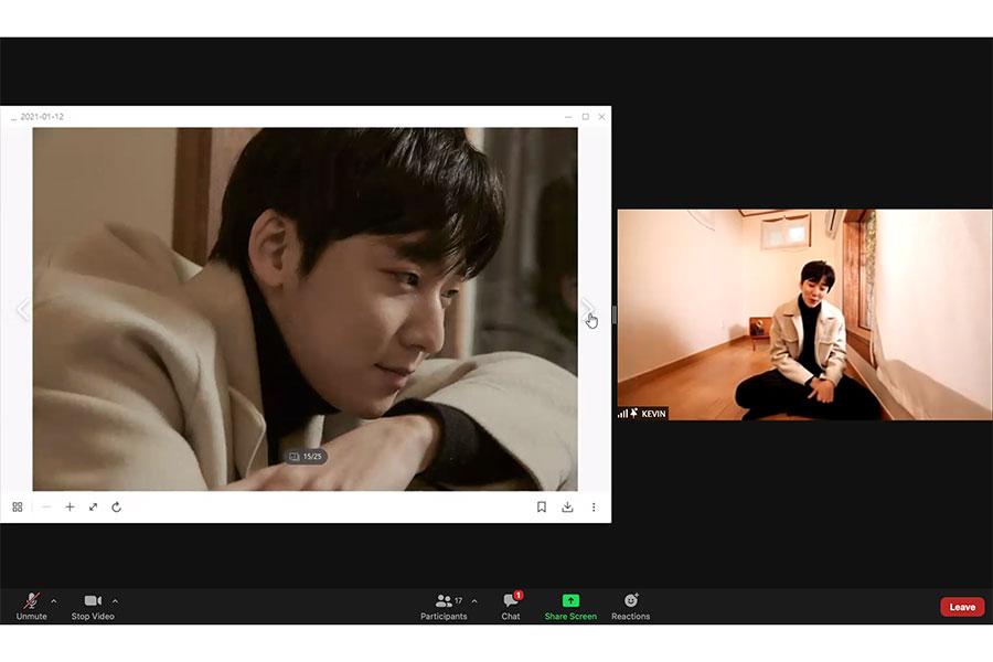 「K-POP流の写真撮影」メディアプレビューでポーズをとる元U-KISSケビン(Kevin Woo)【写真:(C)Airbnb】