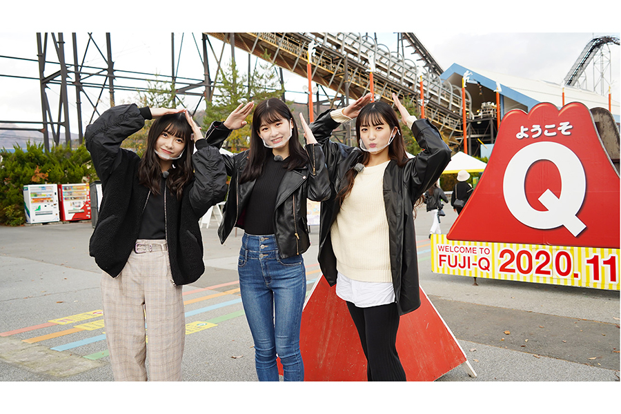 AKB48の3人組が創作ダンスの女子旅へ もぐもぐシーン、絶叫系アトラクション場面も