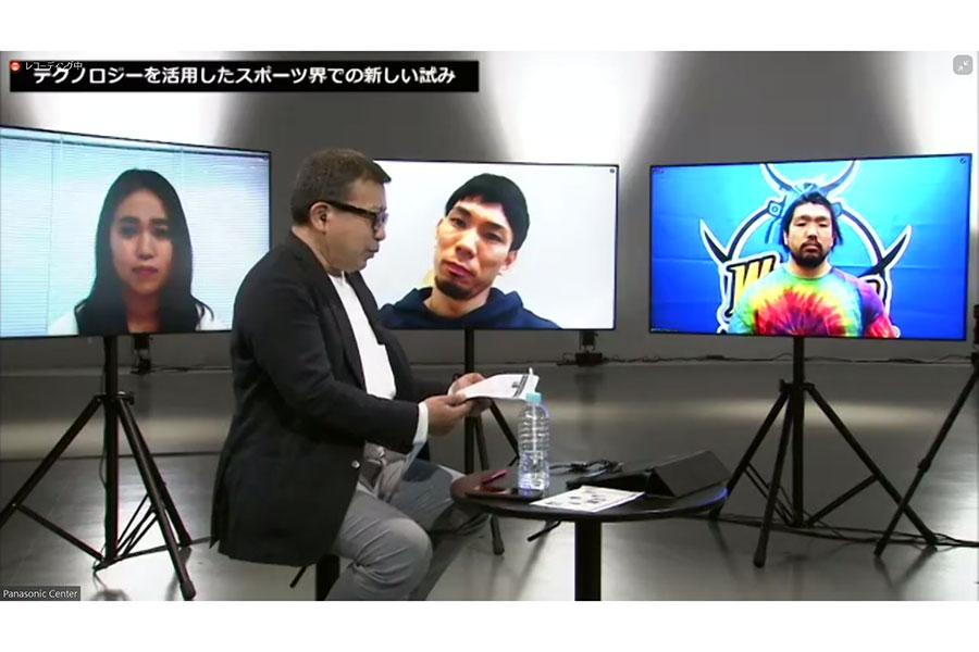 オンラインイベントで熱い激論(写真左から森田詩織、福澤達哉、堀江翔太)