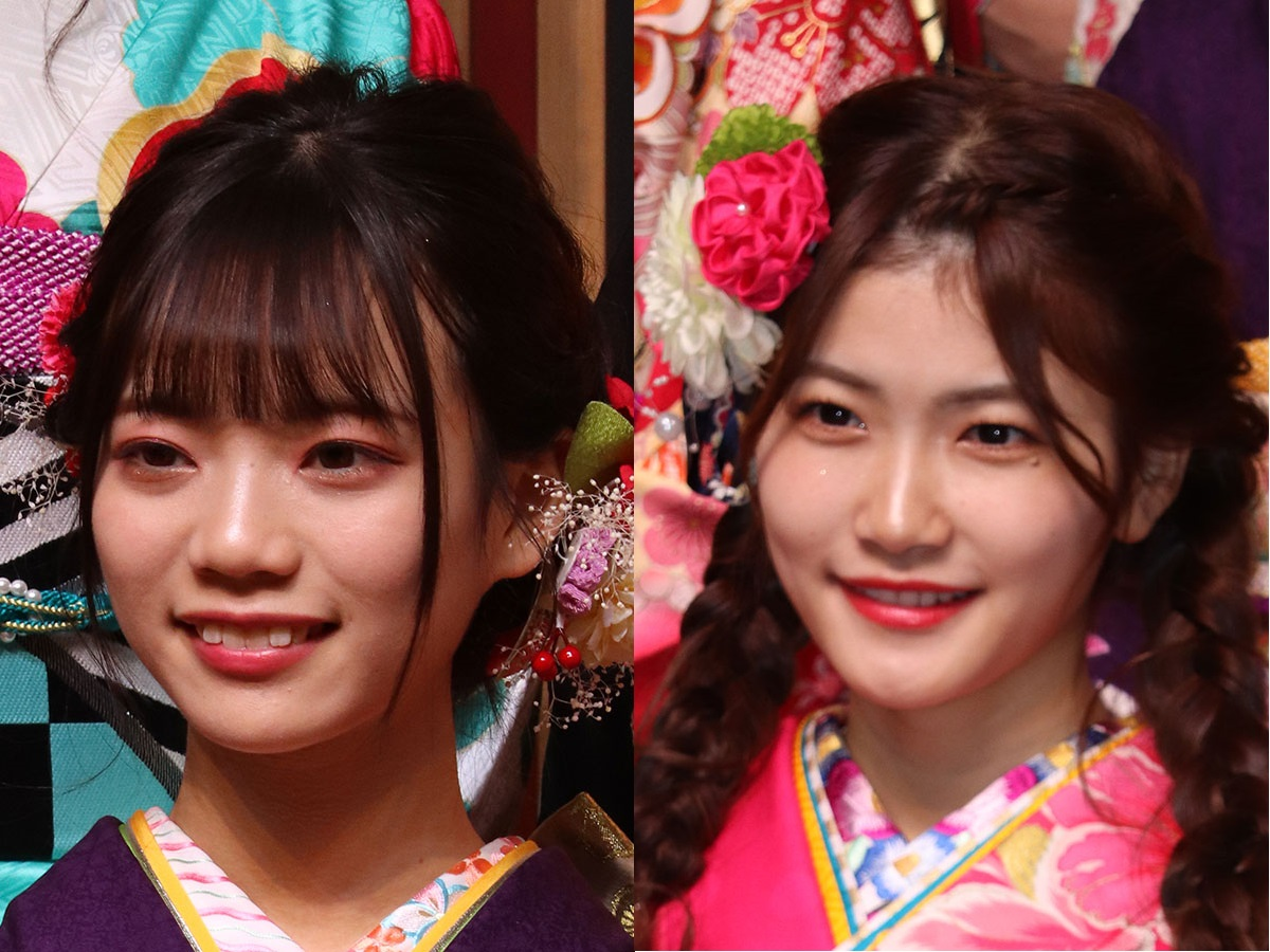 「SKE48」を卒業することを発表した西満里奈(左)と平田詩奈【写真:ENCOUNT編集部】