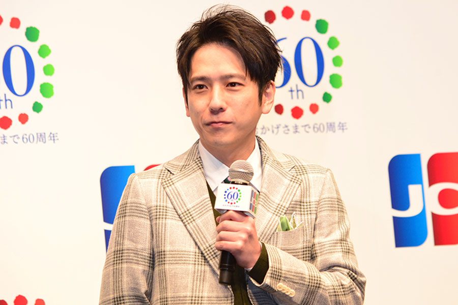 「JCB新TVCM発表会」に出席した二宮和也【写真:ENCOUNT編集部】