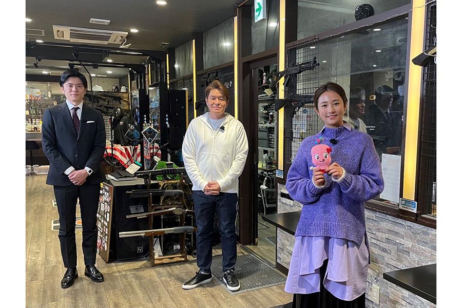 ヒロミと青木源太がゲスト2人をもてなす【写真:(C)日本テレビ】