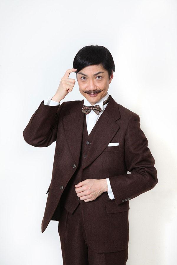 ひげが独特の雰囲気をかもし出す劇中の衣装でインタビューに応じた野村萬斎【写真:(C)フジテレビ】