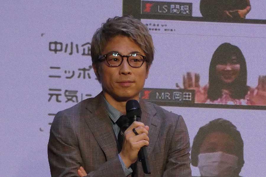 田村淳が「中小企業緊急カンファレンス」に公式アンバサダーとして出席【写真:ENCOUNT編集部】
