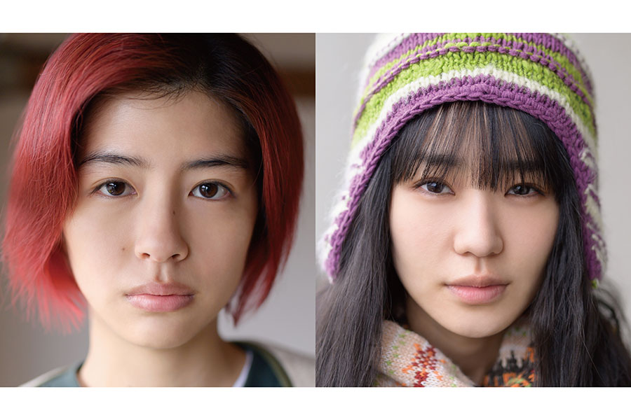 映画「君は永遠にそいつらより若い」主演の佐久間由衣(左)と奈緒