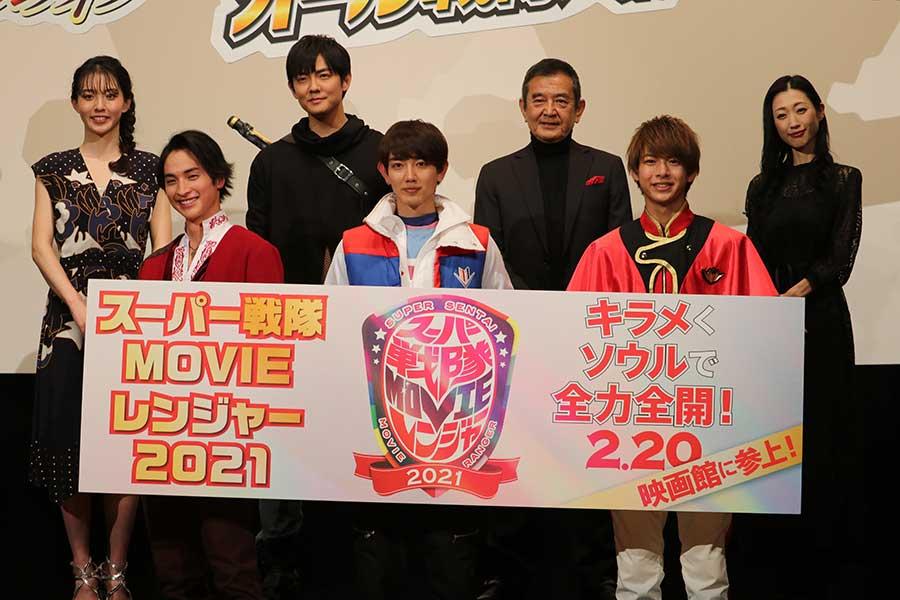 「スーパー戦隊 MOVIE レンジャー2021」の完成報告イベントが行われた【写真:ENCOUNT編集部】