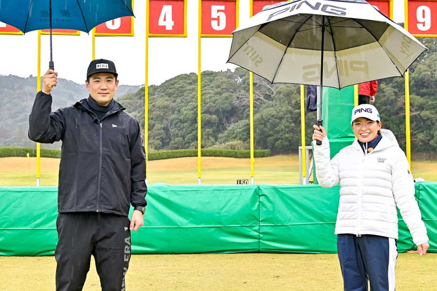 田中将大と渋野日向子が「炎の体育会TV」で共演【写真:(C)TBS】