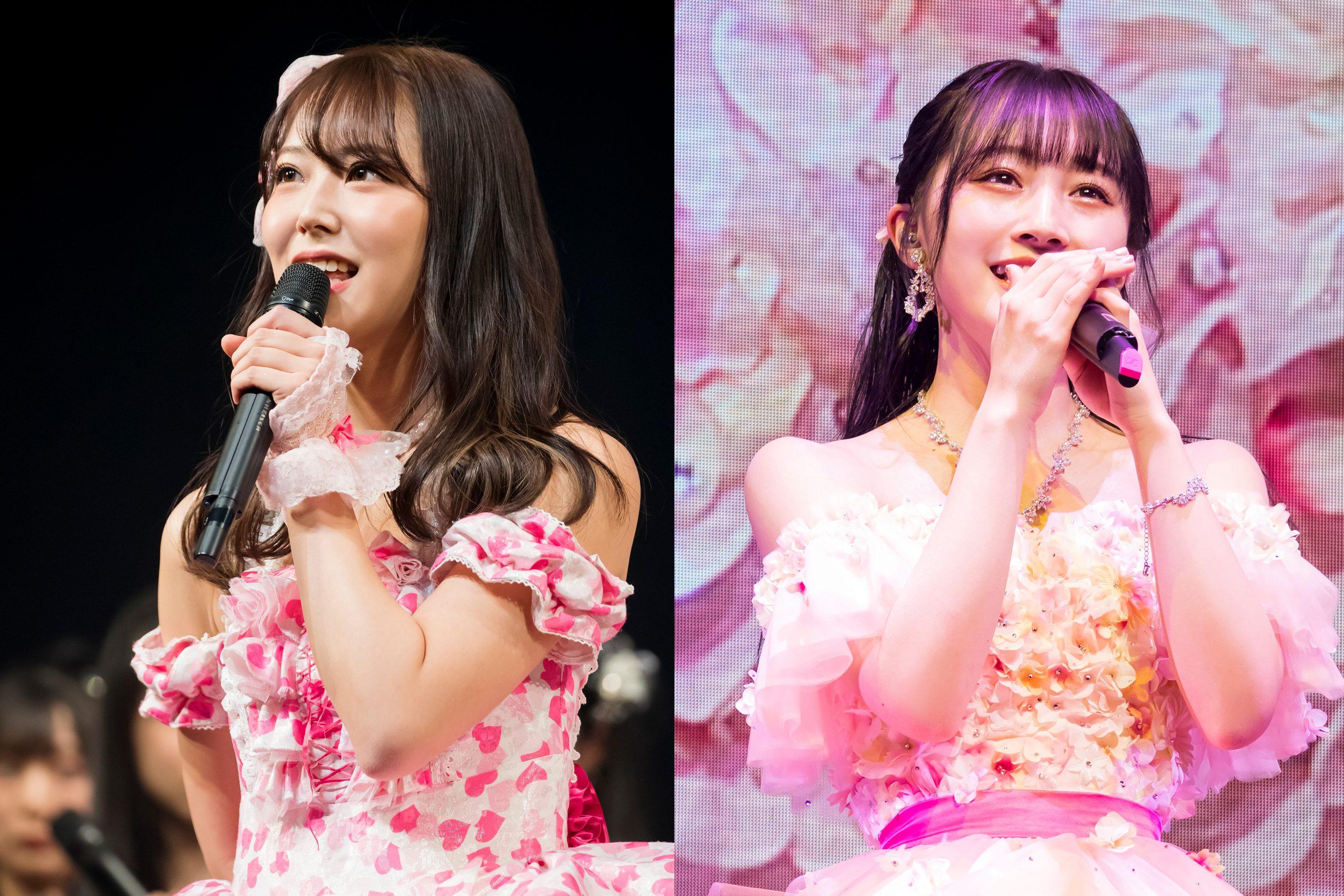 NMB48の白間美瑠(左)と山本彩加【写真:(C)NMB48】