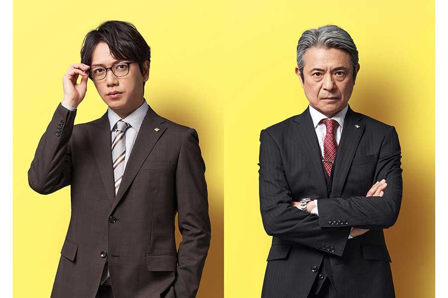 「イチケイのカラス」出演が決定した山崎育三郎(左)と升毅【写真:(C)フジテレビ】