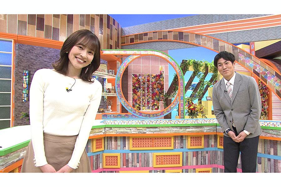 「とびっきり!サンデー」司会を務める佐野伶莉アナと須藤誠人アナ