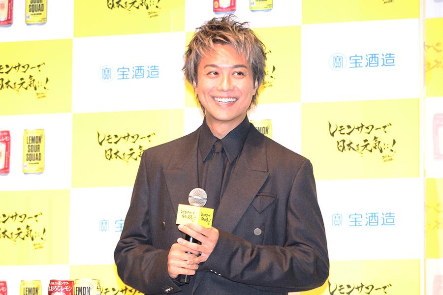 「レモンサワーで日本を元気に!」プロジェクト発表会に登壇した「EXILE」のTAKAHIRO【写真:ENCOUNT編集部】
