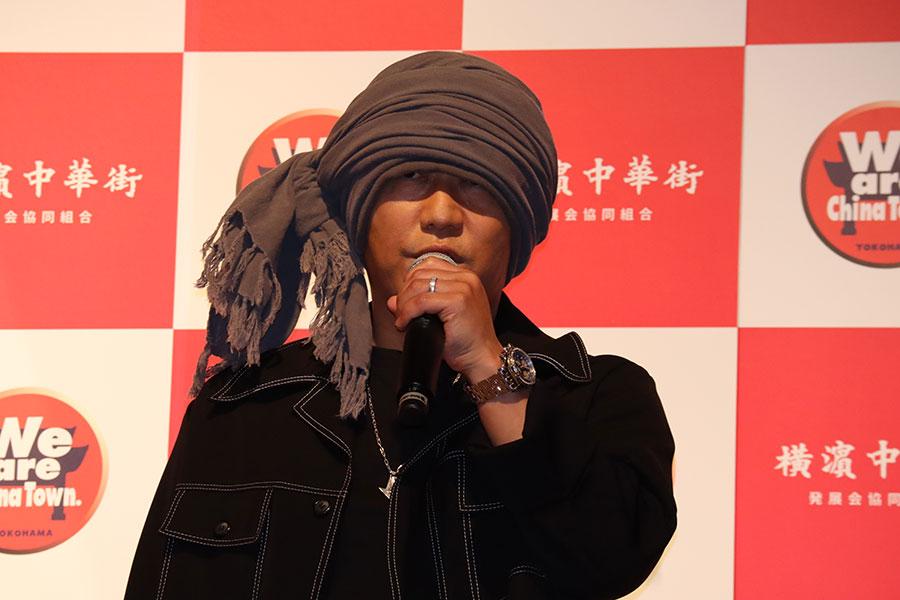 記者発表会に出席したHAN-KUN【写真:ENCOUNT編集部】