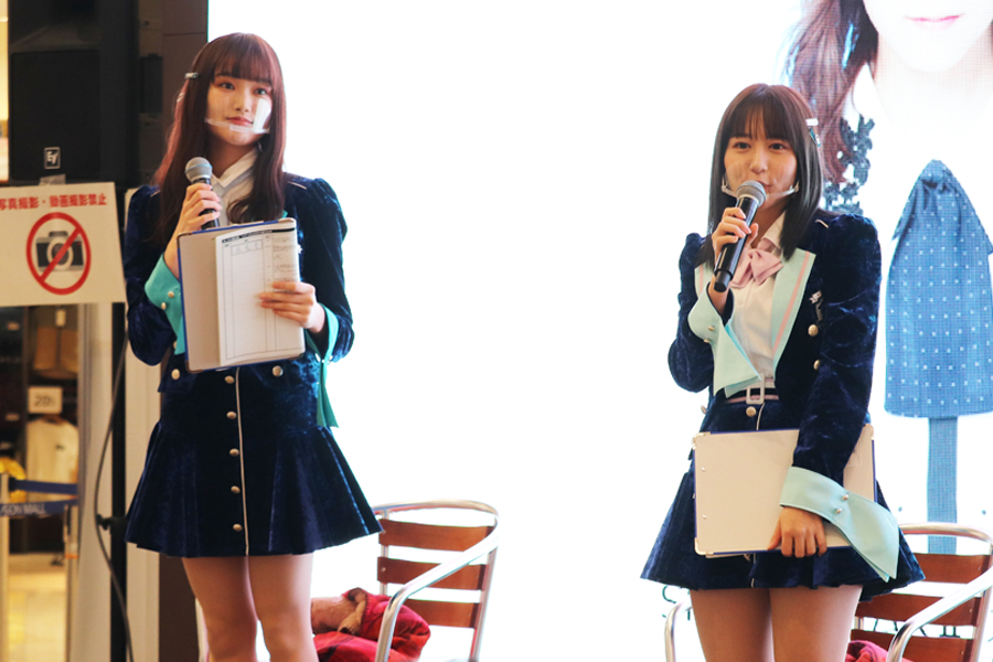 愛知県の魅力を発信した「SKE48」の(左から)石川花音と大場美奈【写真:ENCOUNT編集部】