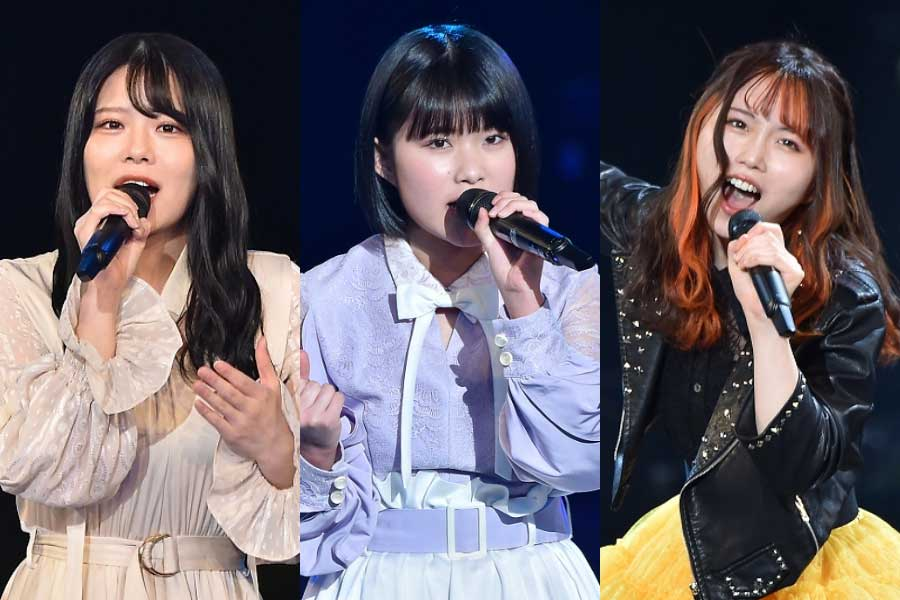 「STU48」矢野帆夏(左)と「HKT48」秋吉優花は2回目、「STU48」池田裕楽(中央)は初出演