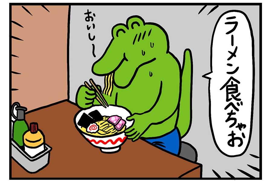 「100ワニ紙芝居」のひとコマ【写真:(C)STUDIO KIKUCHI】