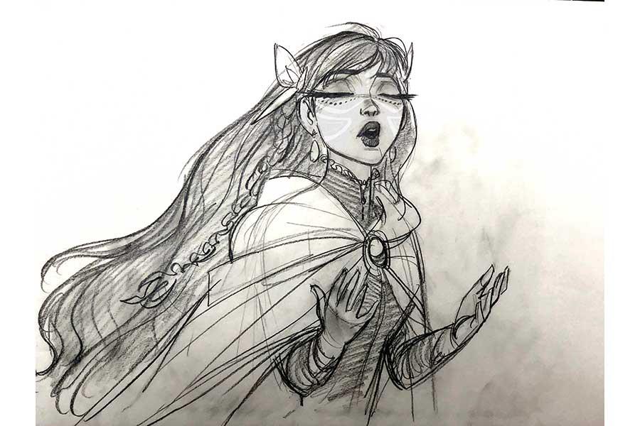 ジン・キムがデザインした歌姫ベル【写真:(C)2021 スタジオ地図】