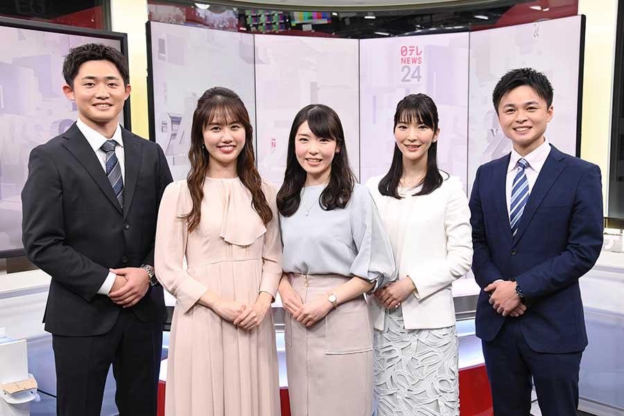 「日テレNEWS24」でキャスターに挑戦するANAグループ社員の5人【写真:(C)日本テレビ】