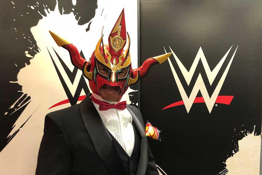 映像出演した獣神サンダー・ライガー【写真:(C)2021 WWE, Inc. All Rights Reserved.】
