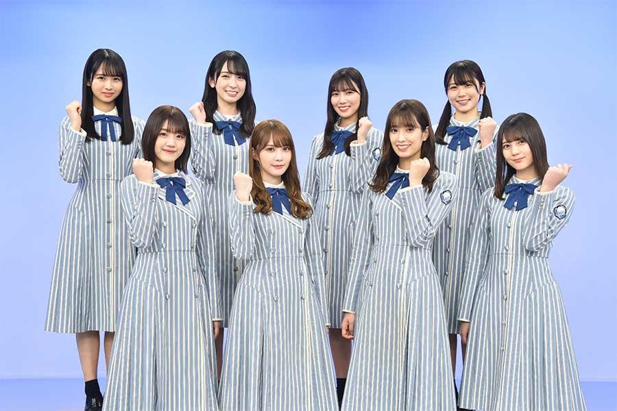 「高校生クイズ」のメインサポーターに決定した「日向坂46」【写真:(C)日本テレビ】