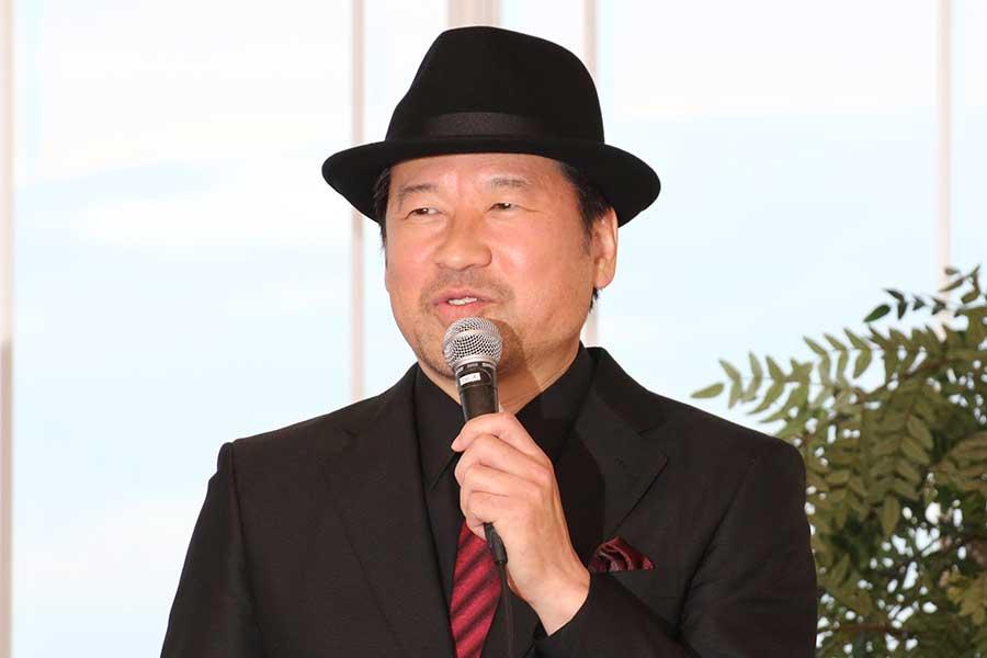 イベントに登壇した佐藤二朗監督【写真:ENCOUNT編集部】