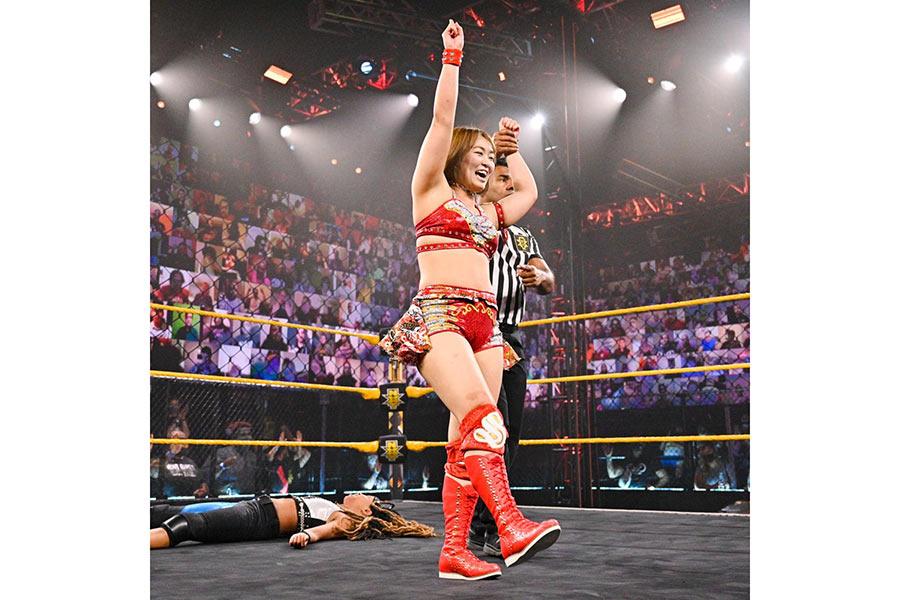 連勝のサレイ【写真:(C)2021 WWE, Inc. All Rights Reserved.】