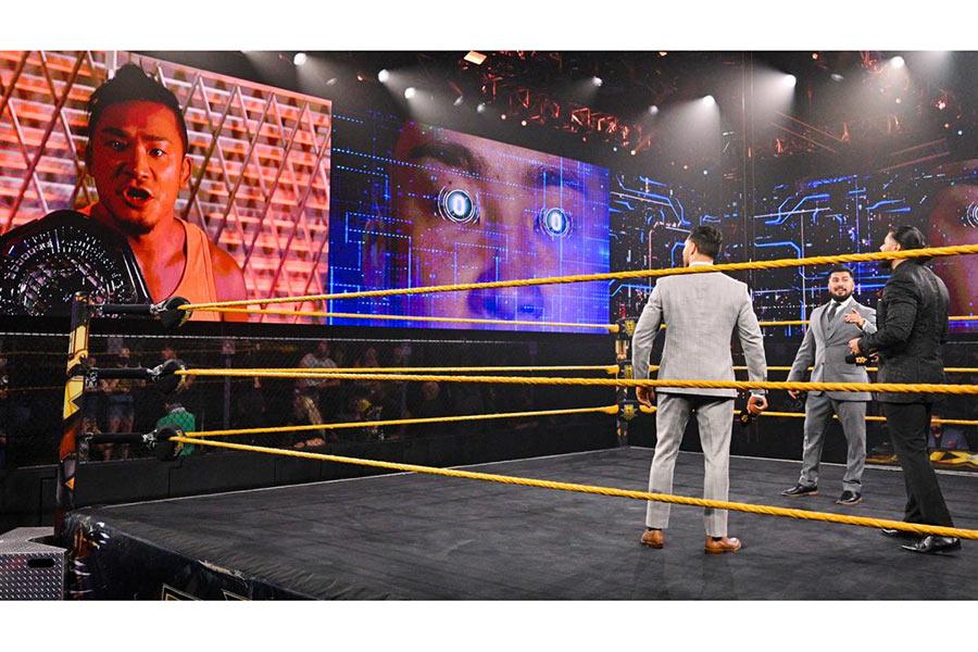 NXTクルーザー級王者KUSHIDA(左)とエスコバーのリマッチが決定【写真:(C)2021 WWE, Inc. All Rights Reserved.】