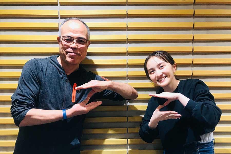 ラジオで共演した百田夏菜子(右)と田中要次【写真:(C)ニッポン放送】