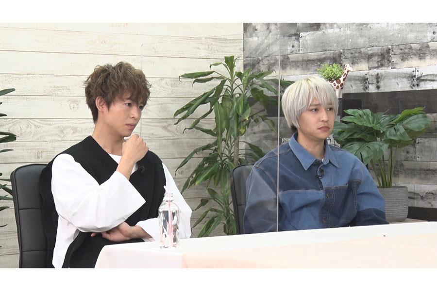 「突然ですが占ってもいいですか?」にゲスト出演する有岡大貴と八乙女光(左から)【写真:(C)フジテレビ】