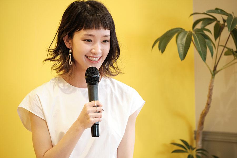 「Ladies for Cinemaオンライン発表会」に出席した剛力彩芽
